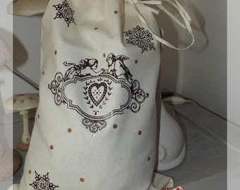 "Gift bag or Christmas toy ""shabby chic"""