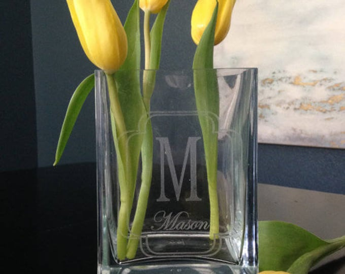 Personalized Vase - Realtor Closing Gift, Personalized Housewarming Gift, Personalized Wedding Gift