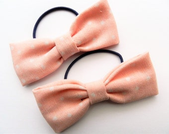 Hair Bows| Pink Hairbows| Hairaccessoires| Girls Hairbows| Pink Dottes Bow