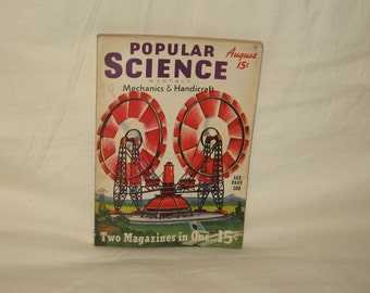 vintage august 1939 popular science magazine