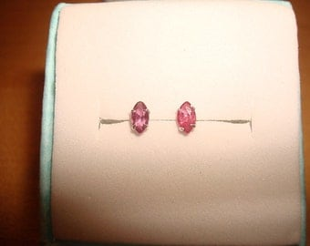 Marquise Cut Genuine Ruby 925 Sterling Silver Stud Earrings