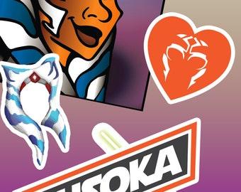 Ahsoka Tano Sticker pack