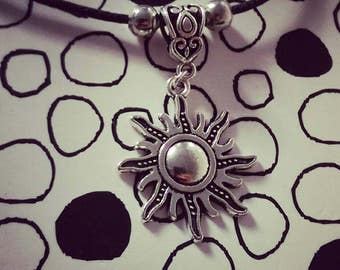 Tangled Sun Rapunzel Princess Cord Disney Inspired charm necklace