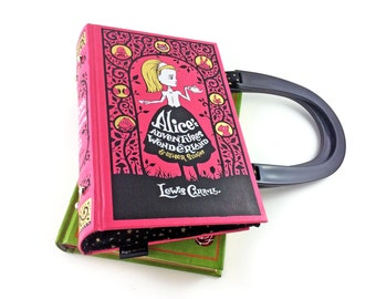 Alice in Wonderland Handbag, Lewis Carroll, Alice's Adventures in Wonderland purse, Gift for a bridesmaid, Off with her head!