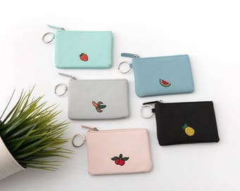 Mini Coin Pouch with Embroidery