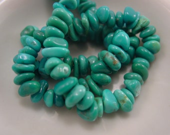 Sleeping Beauty Turquoise Irregular Nugget Bead. Beautiful. Arizona. #7959