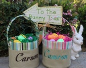 ON SALE Personalized Fabric Easter Basket