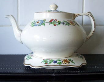 Vintage Crown Ducal Teapot & Stand