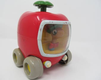 Richard Scarry Busytown Apple Push and Go Car With Lowly Worm