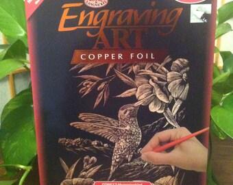 Engraving Art Copper Foil Amazing Hummingbird Kit Model # COPF17 By Royal & Langnikel