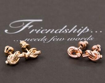 Friendship Knot Earrings-Fashion earrings-Friend Gift Earrings