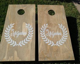 1 Set of Custom Personalized Corn Hole Boards - #Wedding - Birthday - Anniversary - Retirement - Etc.... #CornHole