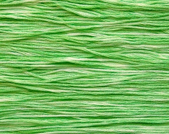 Hand Dyed Cotton Embroidery Floss - Sampler Threads - Embroidery Floss - Endive - Hand Dyed Embroidery Thread for Tatting, Sewing, Crewel