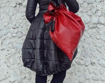 Burgundy Leather Bag / Extravagant Genuine Leather Bag / Burgundy Genuine Leather Bag TLB03 JAZZ UP!