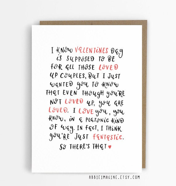 Valentines Card for Friend best friend card bff galentines – Best Friend Valentine Cards