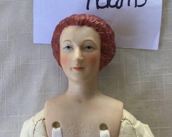 Vintage Yield House  Shackman Abigail Adams porcelain bisque doll