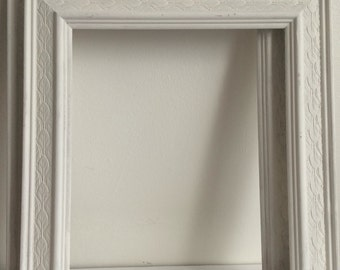 Upcycled Vintage Open Frames, Hand-painted, Shabby Chic Walldecor