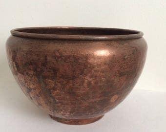 Vintage Copper Planter, Flower Pot
