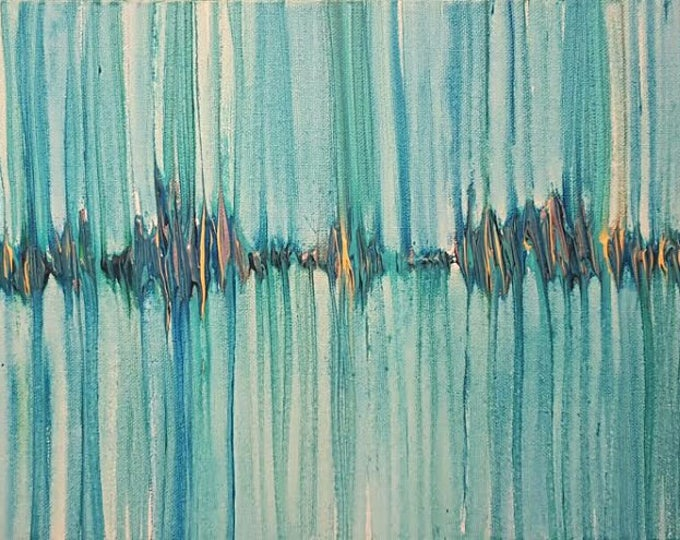 Always Stay Humble and Kind 12x24 Soundwave Painting