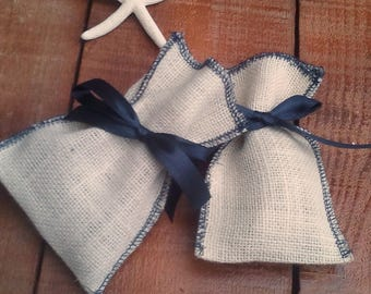 Nautical Favor Bag - Ivory Favour Bag - Beach Wedding Favor Bag - Wedding Favor - Favor Bag - Gift Bag - Rustic Wedding - Set of 25