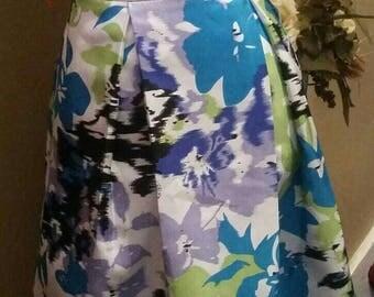 Summer Box Pleat Midi Skirt