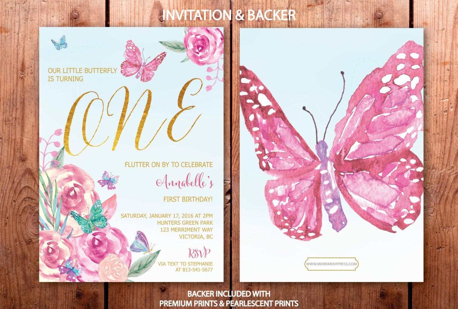 Butterfly First Birthday Invitation Butterflies St Birthday - Butterfly birthday invitation images