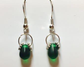 Simply Elegant Emerald Green Drop Earrings