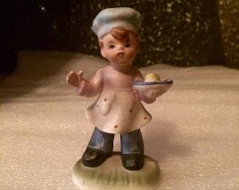 Vintage Hand Painted Napco Chef Cook Mama's Helper Boy