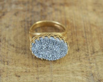 Gold Stone Ring, Big Stone Ring, Gold Ring, Stone Ring, Unique Rings, Fashion Jewelry, Beautiful Jewelry, Vintage Jewelry, Classic Jewelry