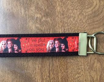 Hocus Pocus Key Chain Wristlet Zipper Pull