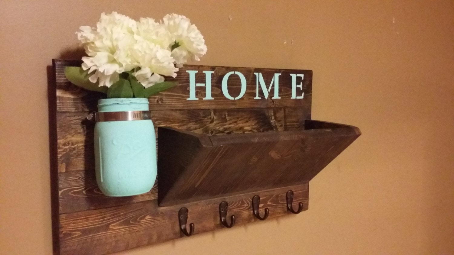 Rustic Home Decor Key Holder Home Decorhome Sign Wooden
