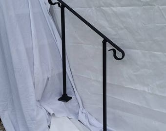 3' Three foot Stair Railing Handrail ornamental crown molding with posts for surface mount situation