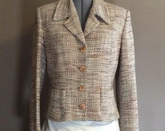 Vintage Silk Tweed Blazer