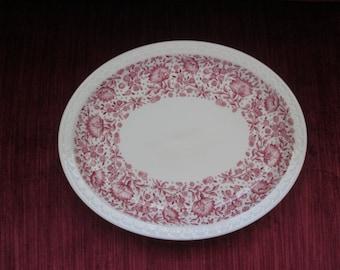 Vintage Syracuse China Mayflower/Roxbury Red Large Platter/Restaurant China/11.25 inches x 9 inches  #16192