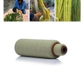 """2-Piece Lanna Roller Massage Foam Rollers - Classic Nesting Set with Natural Dye """"Pistachio"""" Cover"""
