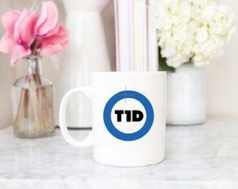 T1D Diabetes Awareness Vinyl Decal for Mug, Car, Tumbler