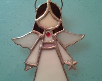 Stained Glass -Angel- Sun Catcher/Ornament- Customizable
