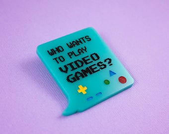 BMO Who Wants to Play Video Games? Brooch