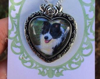 Custom pet photo/portrait necklace!