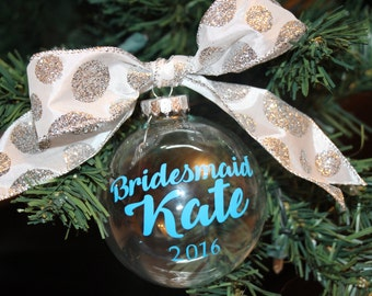 Bridesmaid Christmas Ornament, Will you be my Bridesmaid, Bridal party gift, Bridesmaid gifts