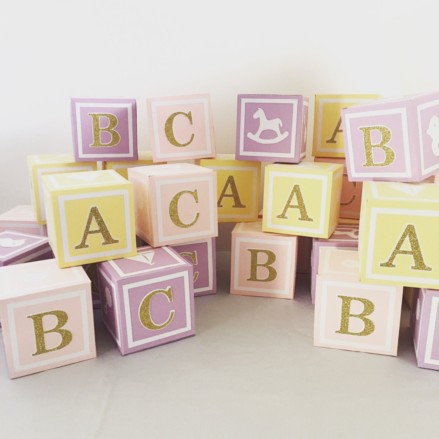 large4 5 in custom alphabet blocks baby shower