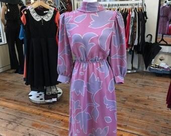 Mauve and Lavender dress 1970's