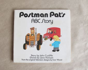 Postman Pat's ABC Story - vintage children's book by John Cunliffe and illustrated by Jane Hickson from TV series by Ivor Wood 1985