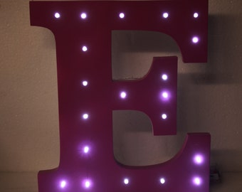 Largee Handmade Wooden Freestanding Letters With Lightt Up LED LIGHTS painted version