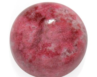 Thulite Round Cabochon Loose Gemstone 1A Quality 10mm TGW 3.60 Cts.