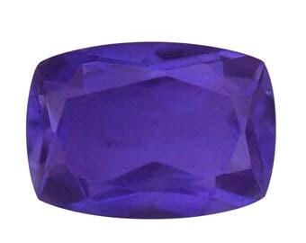 Dark Lavender Quartz Triplet Cushion Cut Loose Gemstone 1A Quality 14x10mm TGW 6.30 cts.