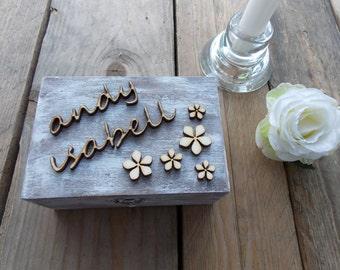 Ring box antique - wedding, ring bearer box, wedding accessoires, wedding decoration