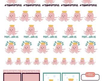 Team Poptopus- Printable Planner Stickers