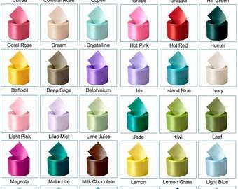 Ribbon - 173 Colors - Single Face Satin Ribbon 1/8 inch, 1/4 inch, 3/8 inch, 1/2 inch, 5/8 inch, 7/8 inch, 1-1/2 inch, 500 100 and 50 Yards
