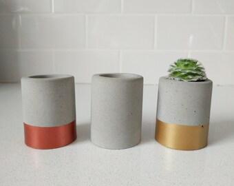 Mini Concrete Planter / Container / Pot